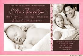 birth announcement wording two photo announcement pink girl birth introduce