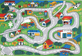 Kid Rug 4 3 X6 6 Rug Kid S Play Road Map Country Driving Time New