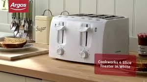 4 Slice Toaster White Cookworks Kt 223 White 4 Slice Toaster Youtube