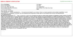 Lobbyist Resume Sample by Lobbyist Cover Letter