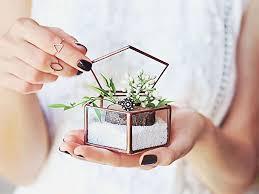 jewelry box favors geometric wedding ring box ring box glass