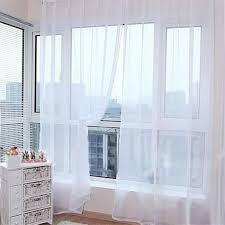 voilage pour chambre solide rideaux de fenêtre tulle voile transparent draperies voilage