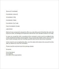 Business Letter Offer offer letter template business letter 1 competent for