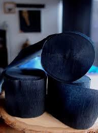 bulk crepe paper streamers black crepe paper streamer party decorations 195ft total 3 pack