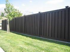 Backyard Fences Ideas by Nice Simple Wood Fence Like The Dark Colour Gardening And
