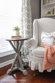 Plans For A Small End Table by Ana White Round Trestle End Table Featuring Shades Of Blue