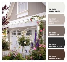 sw 6037 temperate taupe exterior color color palette