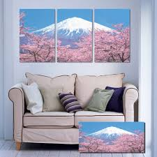 online get cheap japanese wall hanging aliexpress com alibaba group japanese style landscape cherry blossoms canvas printed oil paintings by numbers wall hanging picture home decor for sale