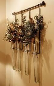 Test Tube Flower Vases No 10 Vase Driftwood Beach Decor Wall Flower Hanging Bud Vase For