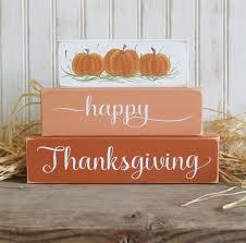 happy thanksgiving shelf sitter sign blocks