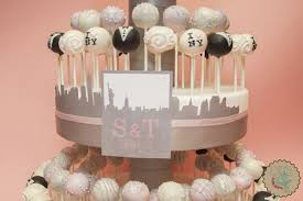 wedding cake pops lottie and lil new york themed wedding cake pops