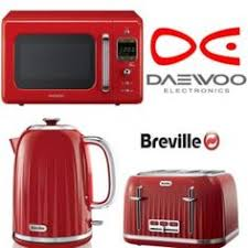 red breville impressions kettle and toaster set 5 piece canister