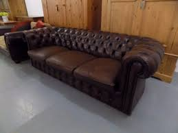Chesterfield Sofas Ebay by Vintage Brown Leather 3 Seater Chesterfield Sofa In Norwich 4
