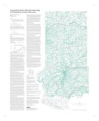 County Map Wisconsin by Wisconsin Geological U0026 Natural History Survey Generalized Water