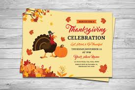 thanksgiving flyer template printable free invitations