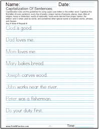 capitalization and punctuation worksheet worksheets