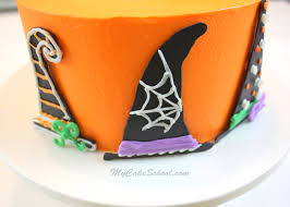 witch hats a halloween cake decorating tutorial my cake