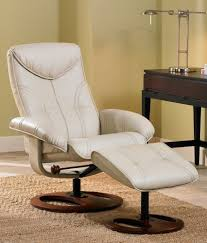 soft touch vanilla swivel recliner and slanted ottoman
