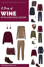 capsule wardrobe color palette a drop of wine with 6 neutral