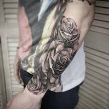 best forearm tattoos realistic roses half sleeve tattoos black ink tattoos