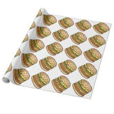 cheeseburger wrapping paper hamburgers wrapping paper zazzle
