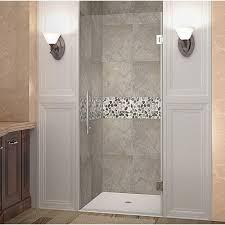 24 Frameless Shower Door Aston Cascadia 24 In X 72 In Completely Frameless Hinged Shower