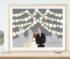 wedding registry book guest book wedding guest book alternative city skyline paper lanterns