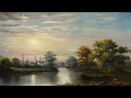 oil painting landscape moonlight with yasser fayad 5 colors youtube