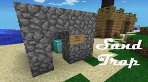 How To Make Home Decor Signs How To Make A Sand Trap In Minecraft Pocket Edition Youtube