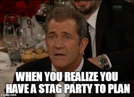 Stag Party Meme - confused mel gibson meme imgflip