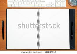 black blank spiral notebook stock images royalty free images
