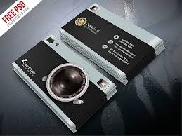 photography business card template free psd photography business