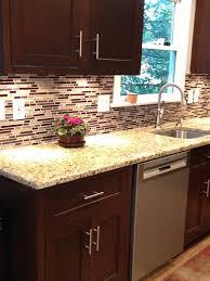 glass tile backsplash with dark cabinets glass tile backsplash with dark cabinets google search the new