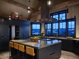 modern rustic kitchen rustic with vaulted ceiling quiet island