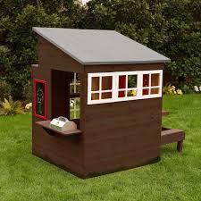 kidkraft modern outdoor playhouse espresso