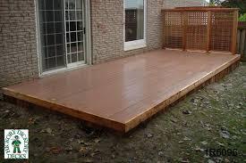 1 level diy deck plans