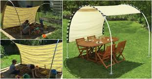 Diy Backyard Canopy Diy Adjustable Outdoor Canopy How To Instructions