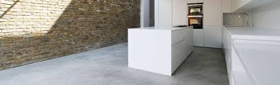 polished concrete and exposed brick wall kitchen pinterest
