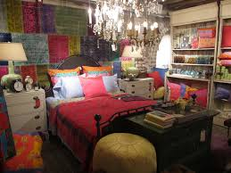 bohemian vintage bedroom decor with colorful tone vintage