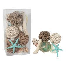 goods for life seashell u0026 faux starfish vase filler 22 piece set
