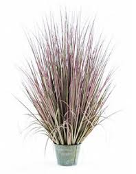 artificial ornamental grass in galvanised pot faux botanical 100cm