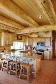 black kitchen cabinets in log cabin how to choose kitchen cabinets for your log home