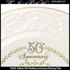 anniversary plates 50th anniversary belleek plate 50th wedding anniversary