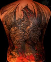 tattoo dragon full back dragon color tattoo on full back