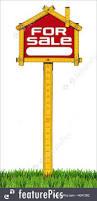 house for sale sign wooden meter illustration