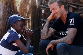 unicef goodwill ambassador david beckham visits swaziland to focus
