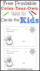 color your own printable thank you cards for thrifty