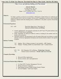 Sample Career Objective For Teachers Resume by Sample Science Teacher Resume Free Resume Example And Writing