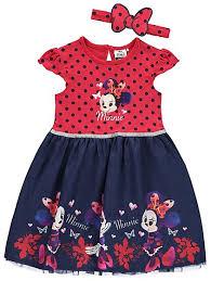 disney minnie mouse dress headband kids george