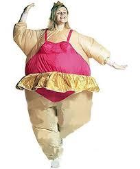 edealing 1pcs inflatable ballerina fancy dress costume fat suit